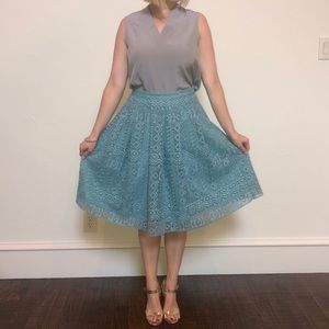 Champagne Skirts - Champagne and Strawberry turquoise skirt.